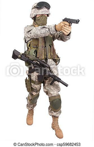 katona, kézifegyver, bennünket - csp59682453