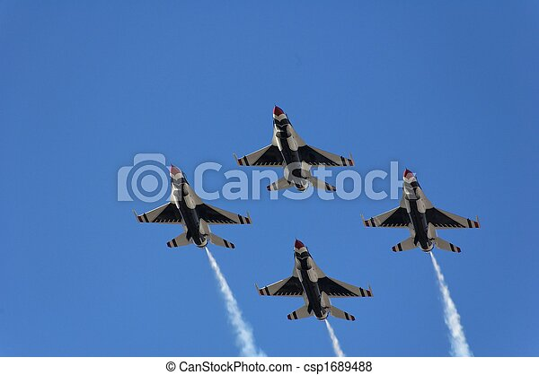 katonai repülőgép, menekülés, vadászrepülőgép, bizonyítás - csp1689488