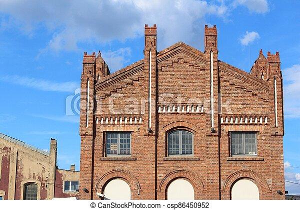 Katowice post industrial architecture - csp86450952