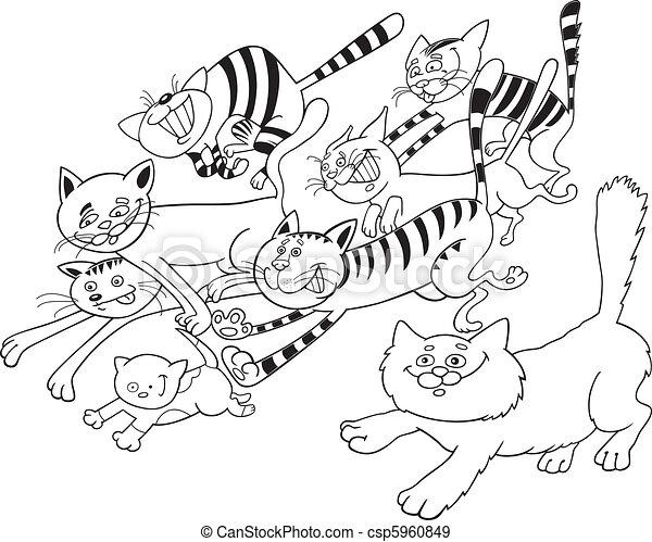 Katzen zum Malen - csp5960849