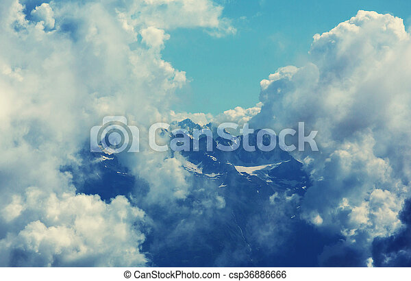 kaukázus, hegyek - csp36886666