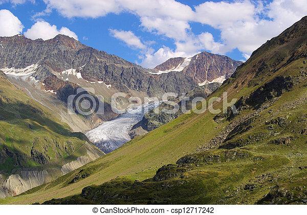 Kauner valley Gepatschferner glacier 01 - csp12717242