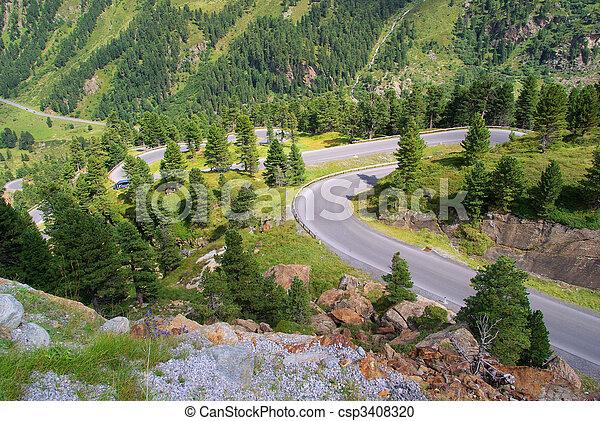 Kauner valley glacier road 01 - csp3408320