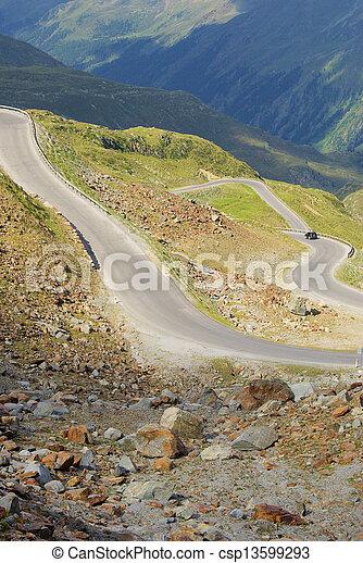 Kauner valley glacier road 04 - csp13599293