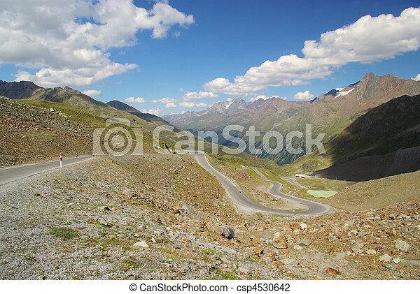 Kauner valley glacier road - csp4530642