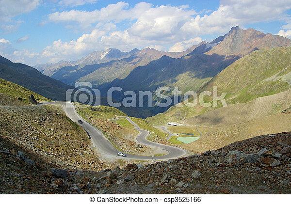 Kaunertal Gletscherstrasse - Kauner valley glacier road 05 - csp3525166