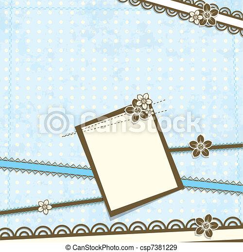 kawałek, wektor, szablon, karta - csp7381229