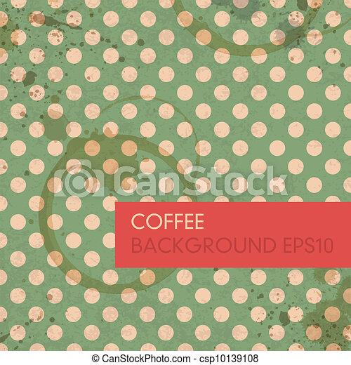kawa, eps10, abstrakcyjny, dzwoni, tło., wektor - csp10139108