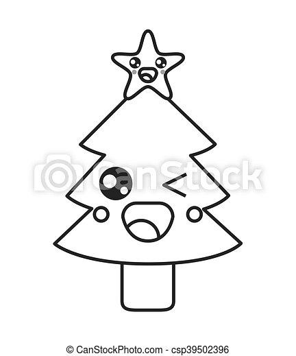 good amazing kawaii rbol navidad icono vector with dibujos arboles navidad with dibujos arboles navidad - Dibujos Arboles De Navidad