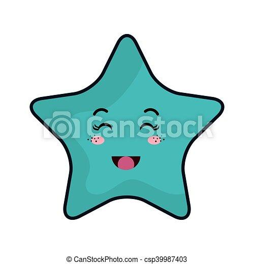 kawaii, étoile, dessin animé - csp39987403