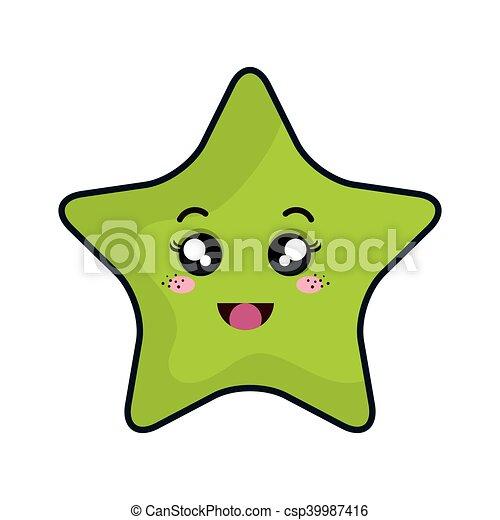 kawaii, étoile, dessin animé - csp39987416