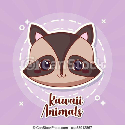 Kawaii Animais Desenho Kawaii Coloridos Roxo Sobre