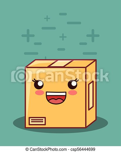 kawaii box icon - csp56444699