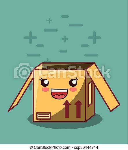 kawaii box icon - csp56444714