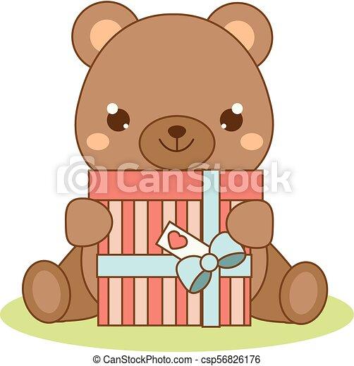 Psicopatico orso teddy cartone animato carattere clipart