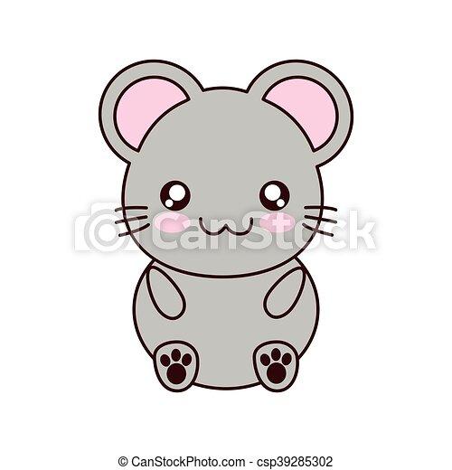 Kawaii carino topo animale icona kawaii carino poco for Immagini disegni kawaii