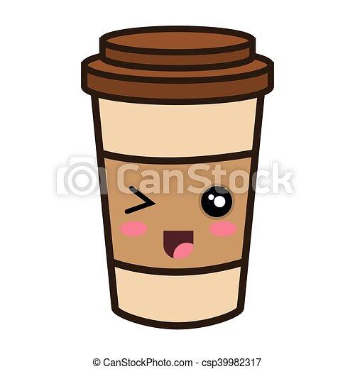 kawaii cartoon coffee portable cup coffee portable cup kawaii