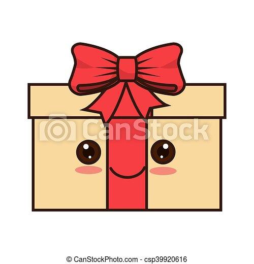 kawaii cartoon gift box - csp39920616