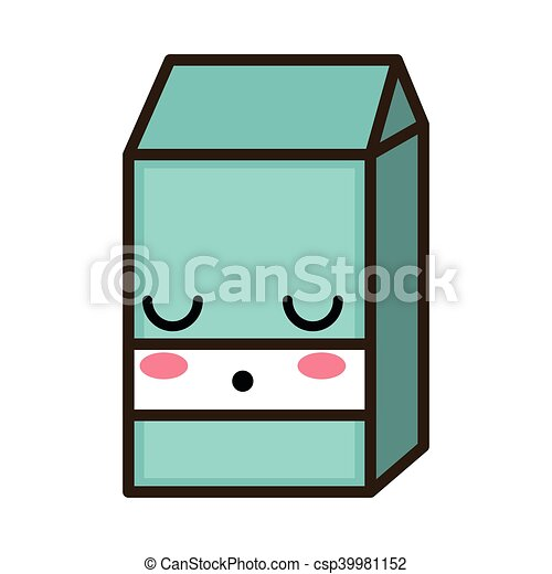 kawaii cartoon milk box - csp39981152
