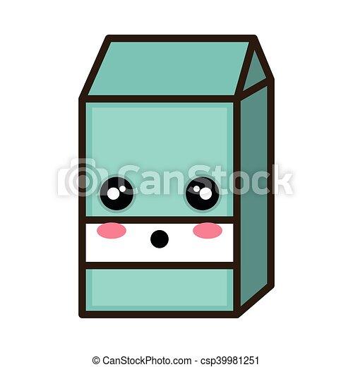 kawaii cartoon milk box - csp39981251