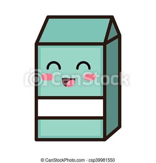 kawaii cartoon milk box - csp39981550