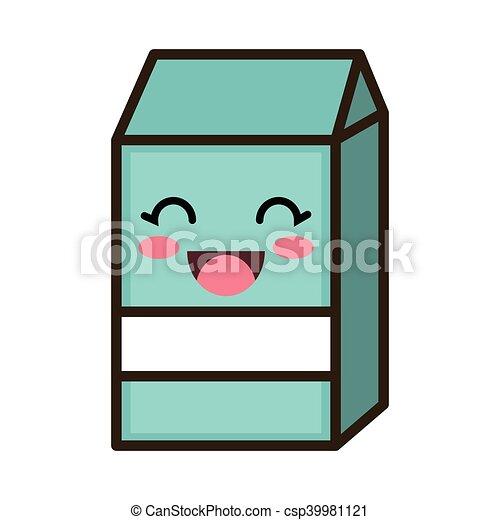 kawaii cartoon milk box - csp39981121