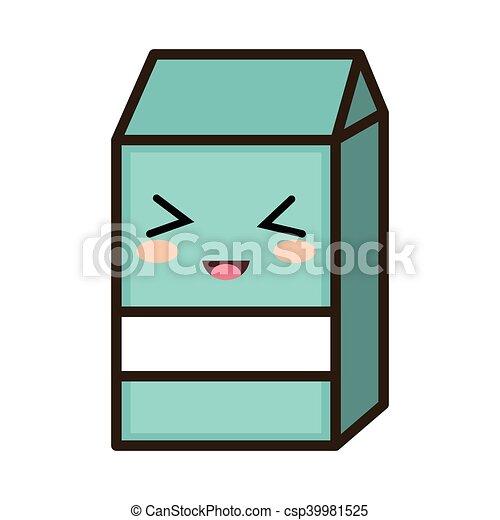 kawaii cartoon milk box - csp39981525