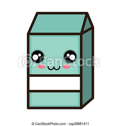 kawaii cartoon milk box - csp39981411