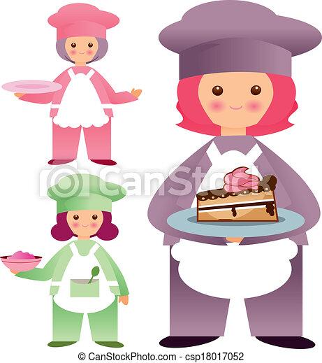 kawaii chefs - csp18017052