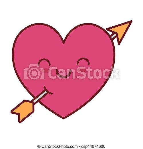 Kawaii Coeur Amour Flèche Valentin