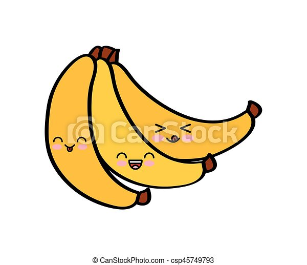 Kawaii Desenho Frutas