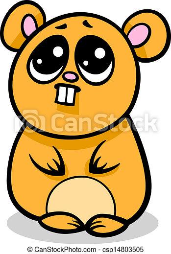 Kawaii dessin anim illustration hamster kawaii - Hamster dessin anime ...