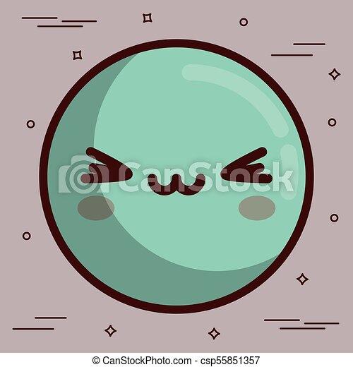 kawaii face icon - csp55851357