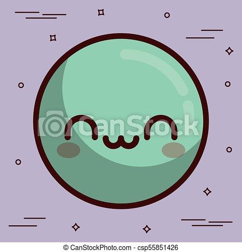 kawaii face icon - csp55851426