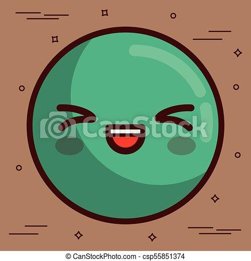 kawaii face icon - csp55851374