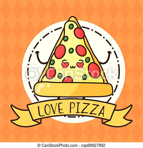 Kawaii Fast Food Kawaii Pizza Fast Food Cartoon Vector Illustration Canstock
