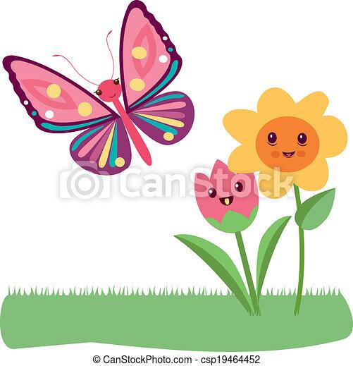 Kawaii flowers - csp19464452