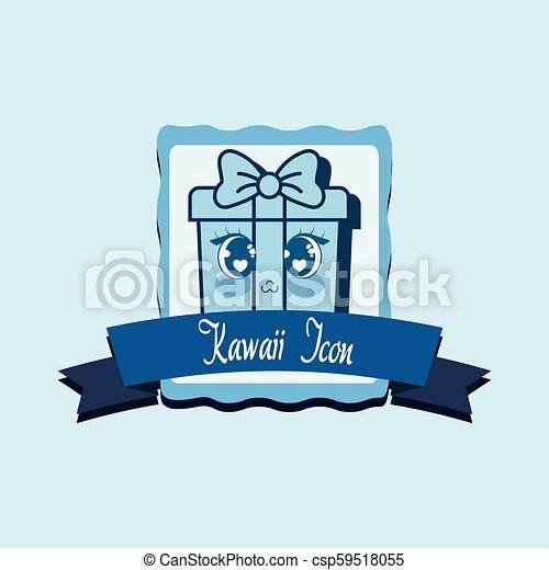 kawaii gift box icon - csp59518055