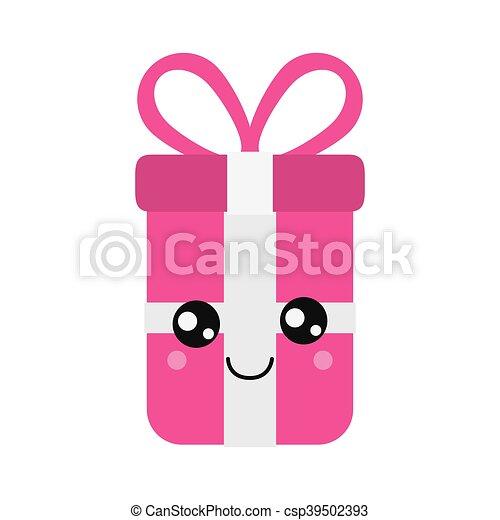 kawaii gift box icon - csp39502393