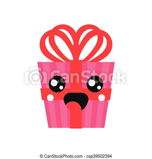 kawaii gift box icon - csp39502394