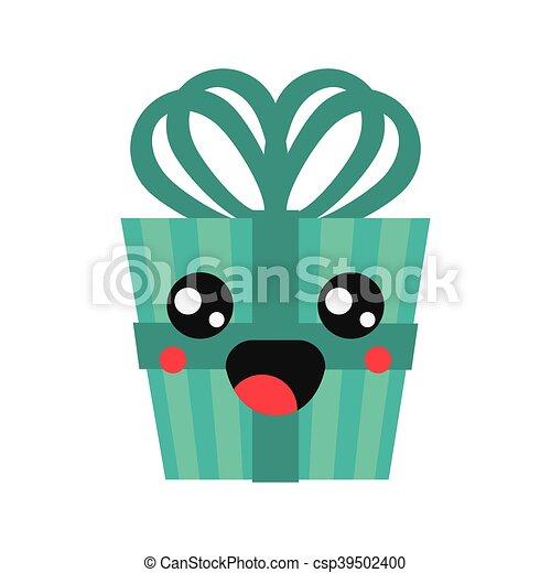 kawaii gift box icon - csp39502400