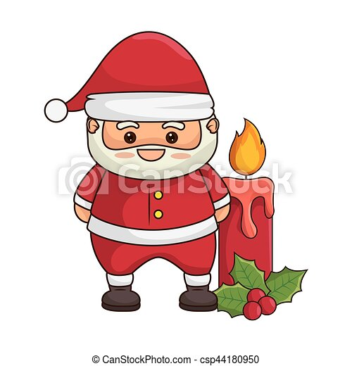 Kawaii Joyeux Claus Caractère Santa Noël