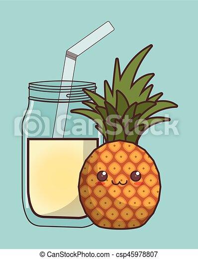Kawaii Jus Fruit Icône