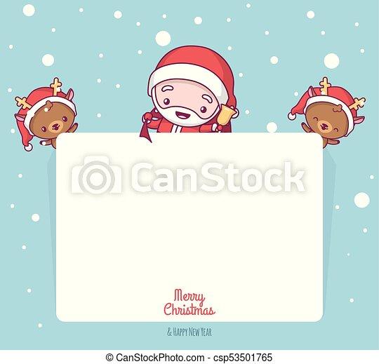 Tarjetas de navidad kawaii