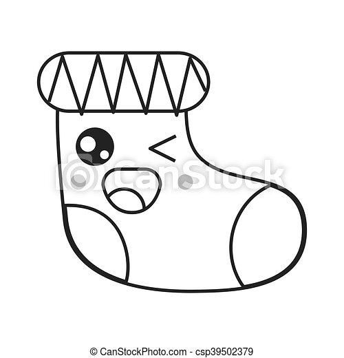 Kawaii Meia Calça Natal ícone