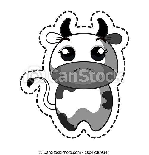 Kawaii Mignon Caractère Vache