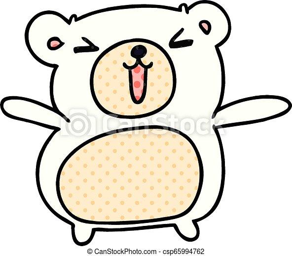 Kawaii Mignon Dessin Animé Ours Teddy