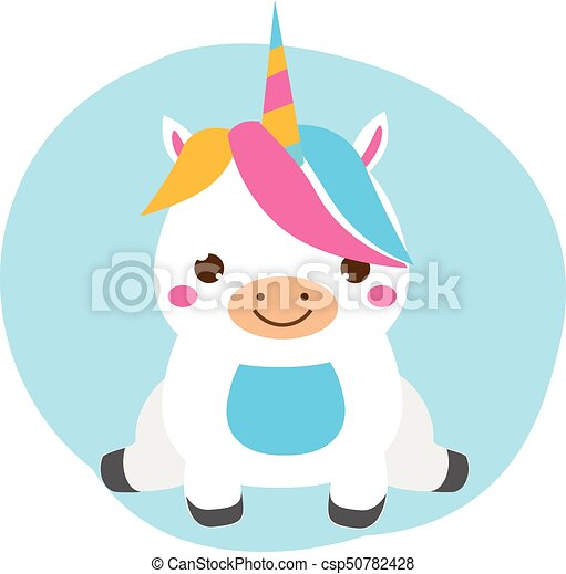 Kawaii Mignon Mode Magie Animal Sitting Caractère Tout Petits Enfants Bébés Licorne Dessin Animé Gosses Style