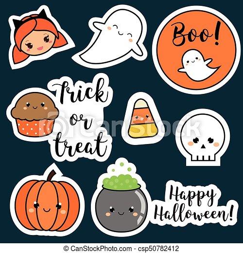 Kawaii Mignon Pièces Gosses Badges Halloween Citrouille Style Symboles Autre Autocollants Vacances Fantômes