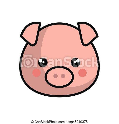 Kawaii mignon style cochon kawaii mignon style - Dessin cochon mignon ...